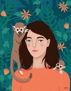 Petra Braun on Talenthouse Portrait Illustration, Character Illustration, Graphic Design Illustration, Watercolor Illustration, Graphic Art, Fantasy Paintings, Illustrations, Portrait Art, Portraits