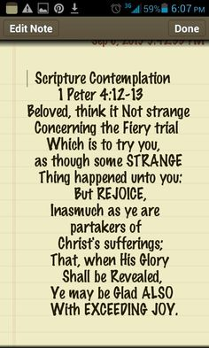 Scripture Contemplation: 1 Peter 4:12-13