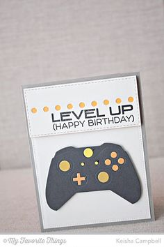 Level Up, Game Controller Die-namics - Keisha Campbell #mftstamps