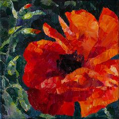 Red Poppy Flower Painting Oil on canvas Paletteknife Small Painting valentine's day gift Small Paintings, Original Paintings, Poppy Flower Painting, Flower Girl Pictures, Pumpkin Flower, Texture Art, Flower Fashion, Flower Bouquet Wedding