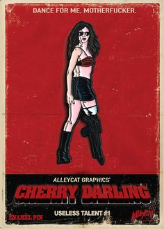 Cherry Darling Planet Terror Soft Enamel Pin by AlleycatGraphics