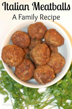 Italian Meatballs Recipe (A Family Recipe)