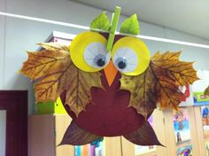 Pojedynczy Post - Fall Crafts For Toddlers Kids Crafts, Fall Crafts For Toddlers, Leaf Crafts, Owl Crafts, Animal Crafts, Diy For Kids, Diy And Crafts, Craft Projects, Arts And Crafts