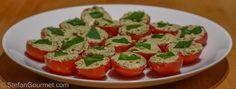 Vine-ripened Tomatoes Stuffed with Ricotta, Basil and Balsamic