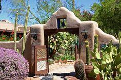 Tucson Gate at Hacienda del Sol boutique resort Exterior Design, Interior And Exterior, Nature Architecture, Taos New Mexico, Santa Fe Style, Adobe House, Southwestern Decorating, Desert Homes, Entry Gates