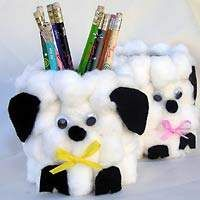 lamb - make with a can or milk carton