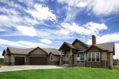 Craftsman design with stucco and stone exteriors