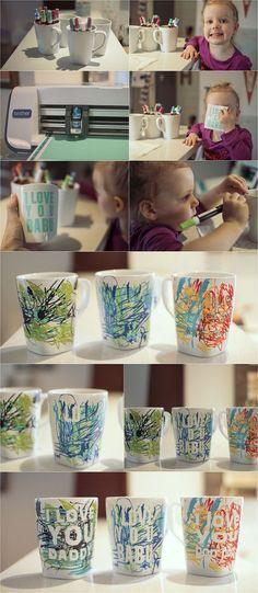 Father's Day coffee mug || perfect last minute kid craft!: