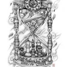 broken hourglass drawing - Google Search