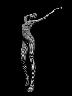 Zebra Photograph - Zebra Woman Flow Of Life Black White Striped Young Woman By Chris Maher by Chris Maher Shadow Photography, Body Photography, Figure Photography, Photography Women, Light Photography, Vintage Photography, Creative Photography, Urban Photography, Black And White Portraits