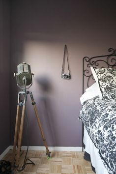 The best paint colors for your bedroom - purple paint wall bedroom - Mauve Bedroom, Bedroom Colors, Royal Bedroom, Best Paint Colors, Pet Bottle, Tripod Lamp, Fixer Upper, Color Schemes, Gray Color