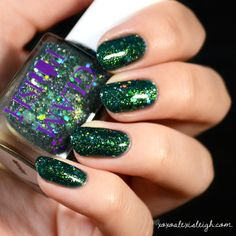 Mystic Full Size Handmixed Glitter Indie Nail Polish by GlamPolish, $9.95