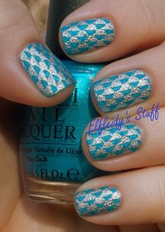 Stamped textured polish