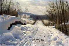 Snowy Path In Langsith  Peder Mork Monsted