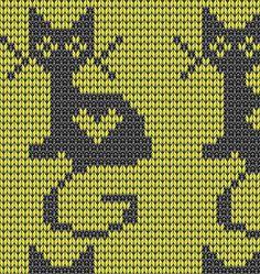 коты, кошки и другие. Slip Stitch Knitting, Knitting Stiches, Fair Isle Knitting, Knitting Charts, Knitting Patterns, Pixel Crochet, Crochet Cross, Crochet Chart, Fair Isle Chart