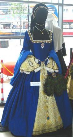 Blue renaissance gown