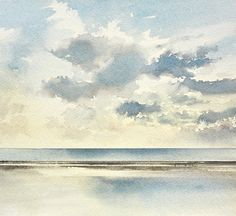 Sunset out to sea, 2021. An original painting by Timothy Gent. Celebrating the beauty of sunset over the open seashore at Lytham St Annes in Lancashire. Available to purchase from the Timothy Gent Gallery online. #british #seascape #sunset #beach #coastal #paintings #contemporary #artcollector #gallery #gallery #artgallery #art Art Paintings For Sale, Original Paintings For Sale, Nature Paintings, Oil Painting Abstract, Abstract Watercolor, Watercolor Paintings, Watercolor Pictures, Pen And Watercolor, Watercolour Techniques