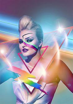 Retro futurism, illustration by Filipp Ryabchikov - ego-alterego.com