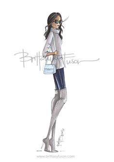 Simone | over the knee boots | fashion illustration | Brittany Fuson| Be Inspirational ❥|Mz. Manerz: Being well dressed is a beautiful form of confidence, happiness & politeness