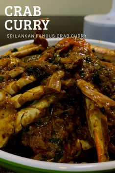 Pepper Crab Recipe, Types Of Bread, Crab Recipes, Coriander, Chicken Wings, Seafood, Curry, Easy Meals, Beef