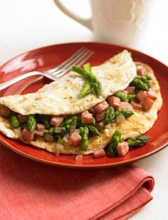 Ham and Asparagus Omelet Healthy Recipe #BiggestLoser