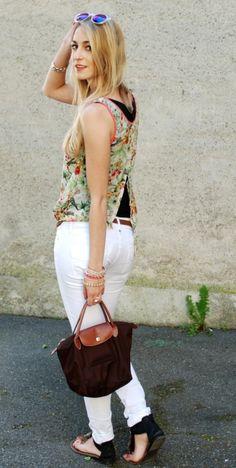 Ideas traje perfecto con pantalones vaqueros blancos (13)
