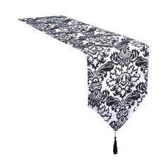 1 Piece 11.8*106inch Taffeta Top Damask Table Runner Wedding Decor, Black & White Artwedding http://www.amazon.com/dp/B00KCF277W/ref=cm_sw_r_pi_dp_PSygvb0VXRR4N