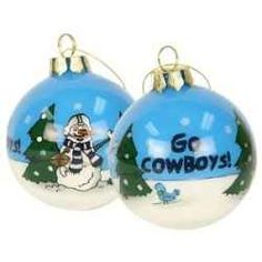 Are you looking for a Dallas Cowboys Ornament for that sports fan in your life? Not sure where to start?    You'll find a great selection here....