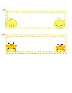 name labels tags notes vol 8 printable name tagsfree - Free Kids Printable