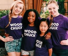 Wood chuck members Peyton list as Emma skai Jackson as Zuri Nina lu as Tiffany and Miranda may as Lou