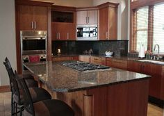 Baltic Brown Kitchen...cabinet colors