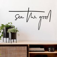 See The Good - Metal Wall Art Modern Wall Decor, Metal Wall Decor, Word Wall Decor, Modern Metal Wall Art, Wire Wall Art, Diy Home Decor, Room Decor, Always Kiss Me Goodnight, Gifts For Nature Lovers