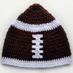Crochet Pattern: Football Hat (5 Sizes)