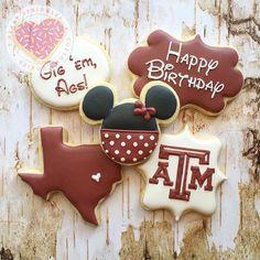Loving these personalized Aggie cookies! via Instagram user: iheartsprinklescookies