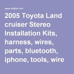 bluetooth hands car kits genuine parrot hands car kit 2005 toyota land cruiser installation parts harness wires kits bluetooth iphone tools wire diagrams stereo