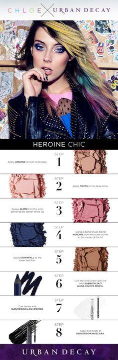 heroinechic look Makeup Tips, Beauty Makeup, Hair Beauty, Beauty Box, Makeup Ideas, Beauty Tips, Beauty Hacks, Urban Decay Tutorial, Eyeshadow Looks