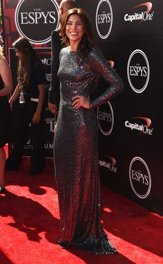 The 2015 ESPYS -  USWNT soccer player Hope Solo attends The 2015 ESPYS at Microsoft Theater on July 15, 2015 in Los Angeles, California.