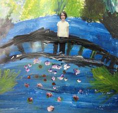 Monet / Impressionists bridge painting.