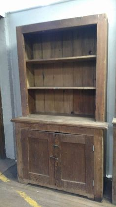 Farmhouse Antique Primitive Early Large Old Stepback Cupboard ...