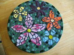 Mosaik selber machen blume mosaiksteine