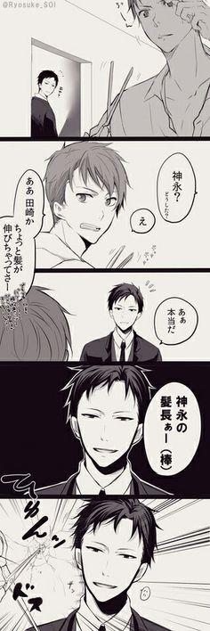 Kaminaga and Tazaki from Joker Game