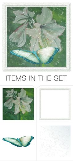 """""""Amaryllis... Butterfly"""" by maryv-1 ❤ liked on Polyvore featuring art"""