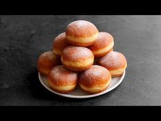 Koblihy - YouTube Russian Recipes, Bread, Dishes, Cake, Sweet, Desserts, Food, Buns, Youtube