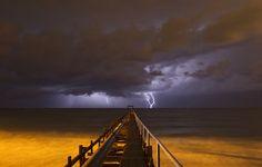 Lightning strikes in the Mediterranean (Photo: Baz Ratner / Reuters)