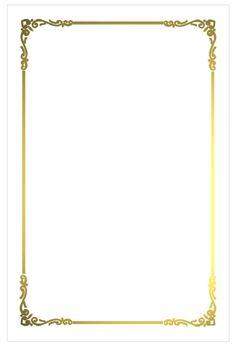 white border png | A8 Regal Border Flat Card - White Gold