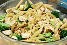 Broccoli & Garlic Pasta: 7 simple ingredients make up this easy weeknight dinner. Add pre-cooked chicken for a little protein!