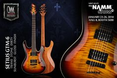 MAYONES SETIUS GTM-6 FLAMED MAPLE TRANS 3TONE DIRTY SUNBURST GLOSS FINISH