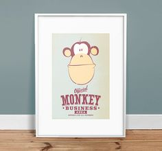 Monkey+Business++13+x+19+Vintage+Poster++by+twenty21onecreative