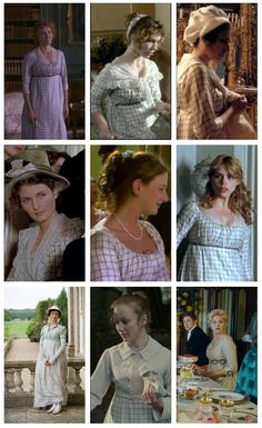 """This Regency costume has been used in many productions over the years. It was designed for """"Sense and Sensibility"""" where it was worn on Emma Thompson. It's since been seen in """"Wuthering Heights,"""" """"Austenland,"""" and """"Mansfield Park"""" to name a few.  #EmmaThompson #SenseandSensibility #JaneAusten #Persuasion #WutheringHeights #MansfieldPark #BilliePiper #Austenland"""