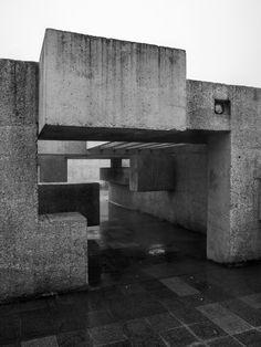 "new-brutalism: "" Apollo Pavilion Peterlee, Victor Pasmore, 1969 Photo: Simon Phipps "" British Architecture, Arch Architecture, Victor Pasmore, Wall Patterns, Brutalist, City Lights, Apollo, Pavilion, Building A House"